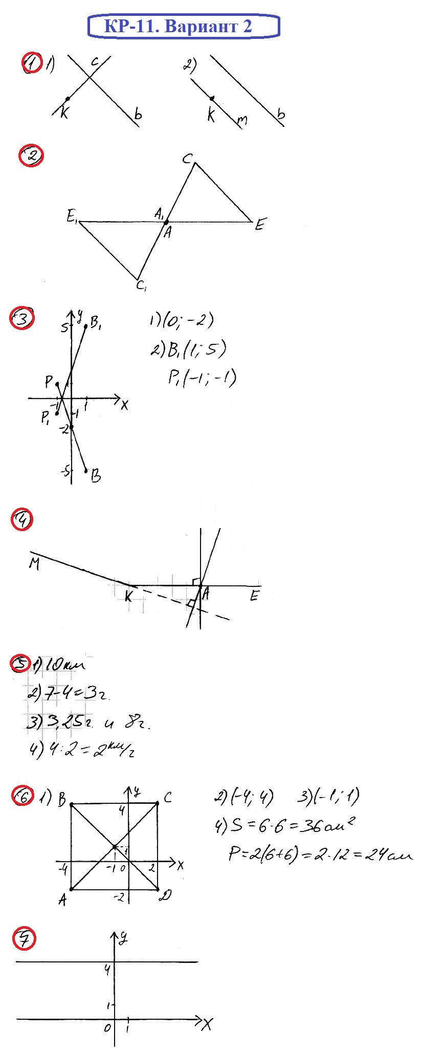 ОТВЕТЫ на КР-11 Математика 6 Мерзляк В2