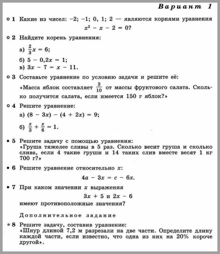 Алгебра 7 Дорофеев КР-04