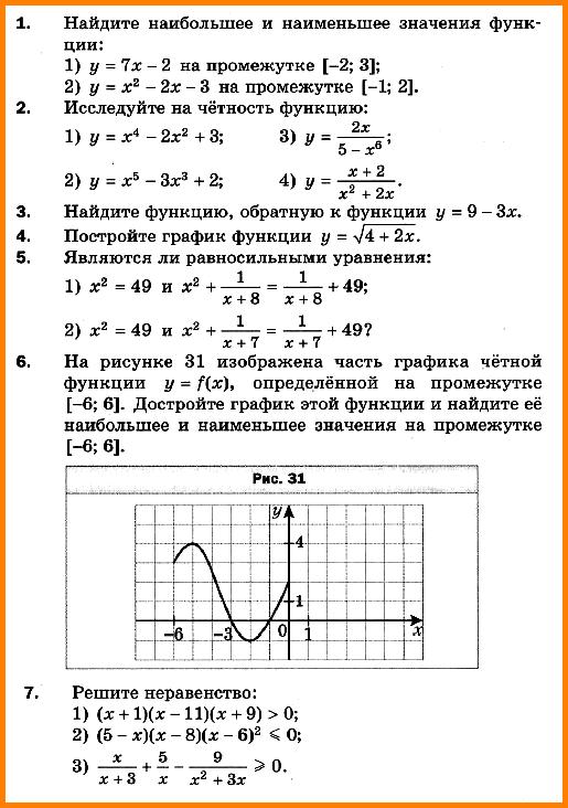 Алгебра 10 Мерзляк КР-1