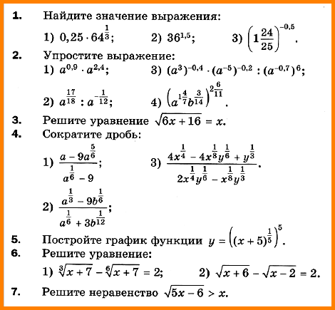Алгебра 10 Мерзляк КР-3